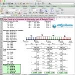Excel para el proceso de interacion con el Metodo Cross