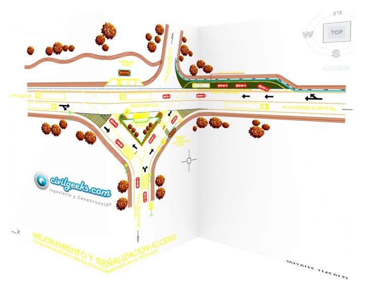 ordenamiento vial acceso en t