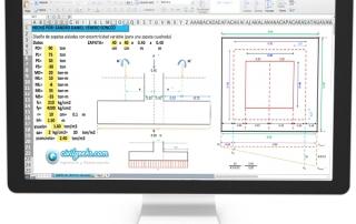 Hoja Excel para Zapatas aisladas con exentricidad variable - sismo