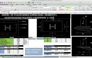Excel para el Diseño de placas bases Carga Axial _Momento