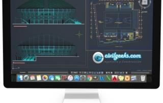 Plano arquitectónico de un Estadio de basquetbol 0