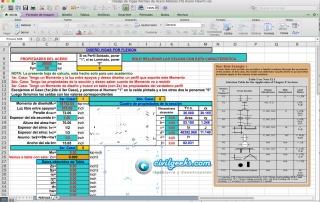Plantilla Excel para el Diseño de Vigas de Acero por flexión