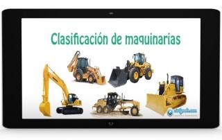 clasificacion de maquinarias