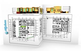 Planos para vivienda Multifamiliar de 2 y 3 niveles con cochera