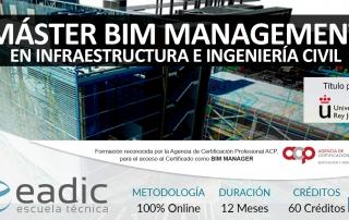 Maestría BIM Management en Infraestructuras e Ingeniería Civil