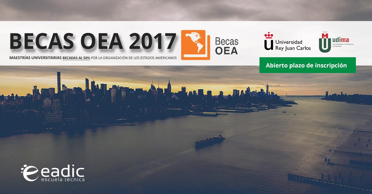 Nueva convocatoria de las Becas de EADIC y la Organización de los Estados Americanos (OEA)