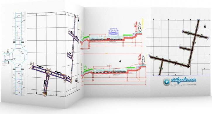 Proyecto completo de Pistas y Veredas 10 cuadras