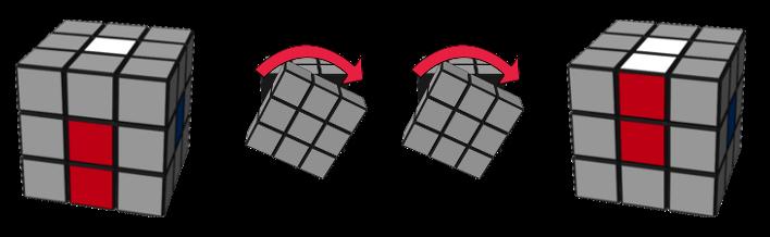 paso1caso1 cubo de Rubik