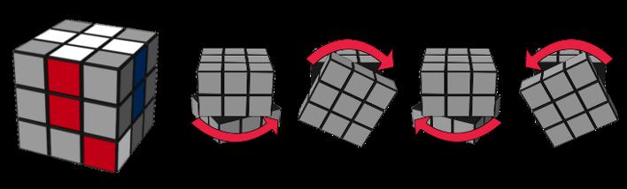 paso2caso2 cubo de Rubik