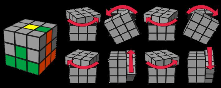 paso3caso1 cubo de Rubik