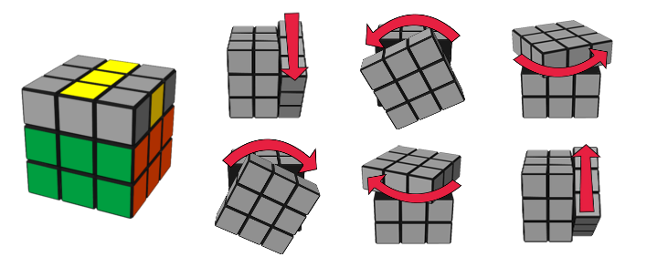 paso4caso1 cubo de Rubik