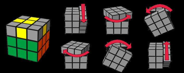 paso4caso2 cubo de Rubik