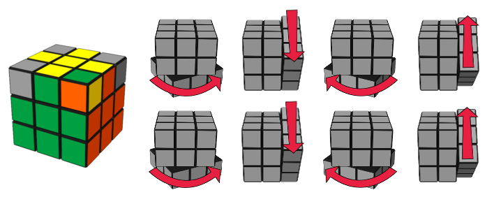 paso7caso2 cubo de Rubik