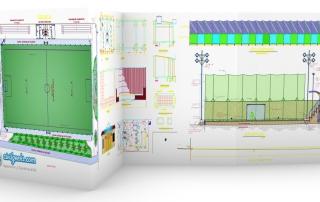planos cancha con cesped sintetico