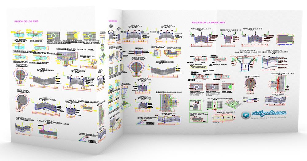 planos detalles para pavimentos