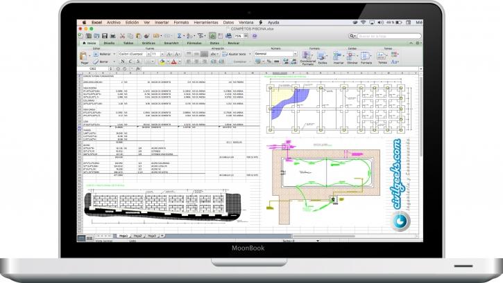 Excel para el Cálculo de una piscina