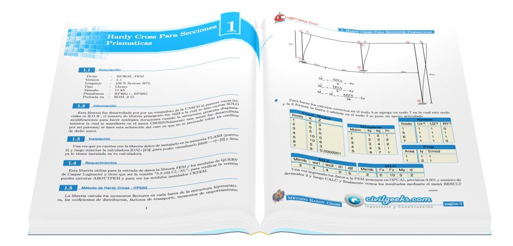 Manual de la librería 1460 Hardy Cross – Secciones prismáticas con desplazamiento