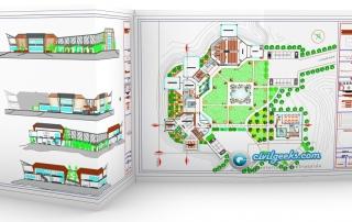 plano parque biblioteca