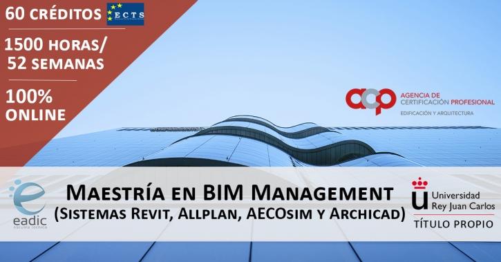 Maestría en BIM Management (Sistemas Revit, Allplan, AECOsim y ArchiCAD)