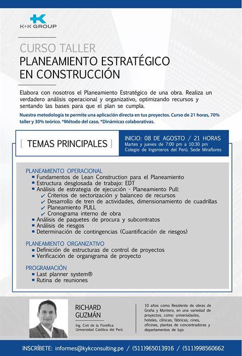 CURSO TALLER PLANEAMIENTO ESTRATEGICO EN CONSTRUCCION 20