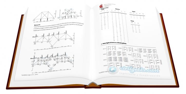 Ejercicios Resueltos de Armaduras planas basada en el método de la rigidez