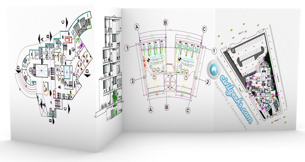 Planos de Arquitectura hospitalaria tipo II