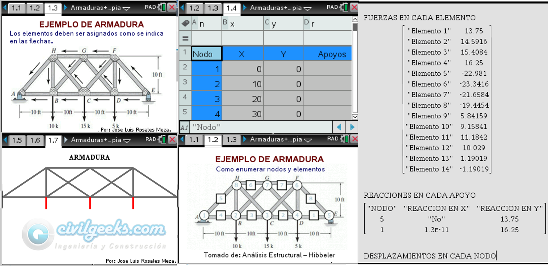 Programa para Texas NSPIRE CAS – Armaduras ++